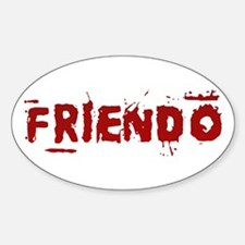 Friendo Oval Decal