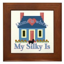 Silky Terrier Home Is Framed Tile