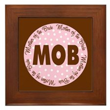 Polka Dot Bride's Mother Framed Tile