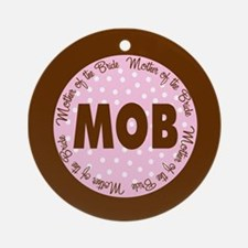 Polka Dot Bride's Mother Ornament (Round)