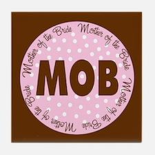 Polka Dot Bride's Mother Tile Coaster