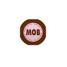 Polka Dot Bride's Mother Mini Button