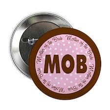 """Polka Dot Bride's Mother 2.25"""" Button"""