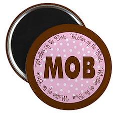 Polka Dot Bride's Mother Magnet
