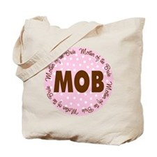 Polka Dot Bride's Mother Tote Bag