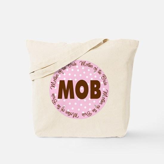 Polka Dot Bride's Mother Tote Bag