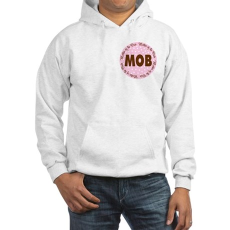 Polka Dot Bride's Mother Hooded Sweatshirt
