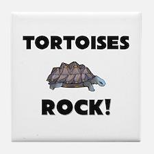 Tortoises Rock! Tile Coaster