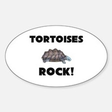 Tortoises Rock! Oval Decal
