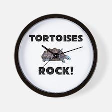 Tortoises Rock! Wall Clock