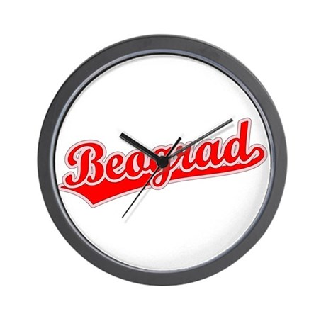 Retro Beograd (Red) Wall Clock