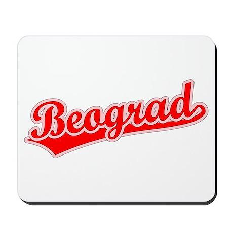 Retro Beograd (Red) Mousepad