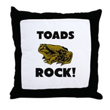 Toads Rock! Throw Pillow