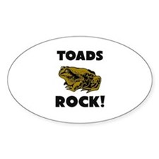 Toads Rock! Oval Decal