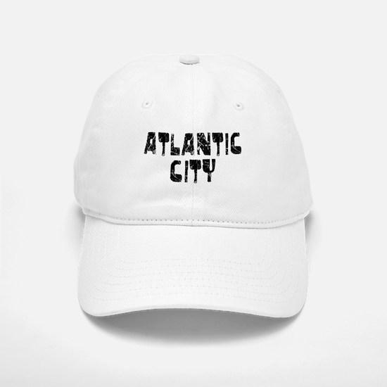 Atlantic City Faded (Black) Baseball Baseball Cap