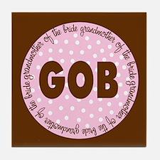 Polka Dot Bride's Grandmother Tile Coaster