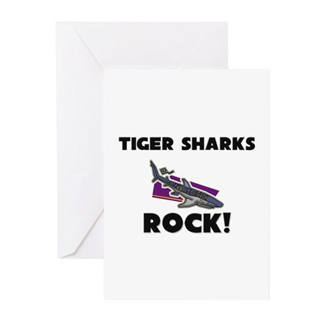 Tiger Sharks Rock! Greeting Cards (Pk of 10)