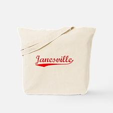 Vintage Janesville (Red) Tote Bag