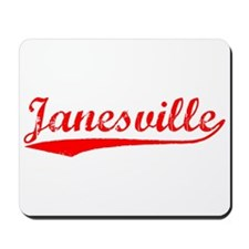 Vintage Janesville (Red) Mousepad
