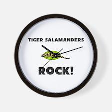 Tiger Salamanders Rock! Wall Clock