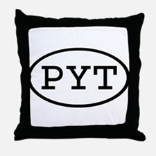PYT Oval Throw Pillow
