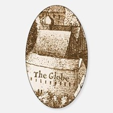 The Globe Theatre Oval Decal