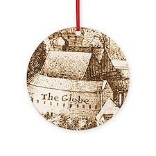 The Globe Theatre Ornament (Round)