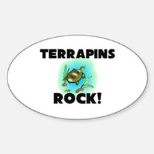 Terrapins Rock! Oval Decal