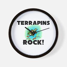 Terrapins Rock! Wall Clock