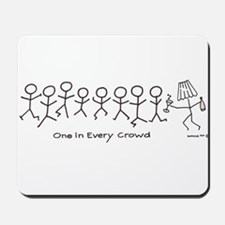 One in Every Crowd - Drinker in Lampshade Mousepad