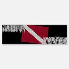 Muff Diver Bumper Bumper Bumper Sticker