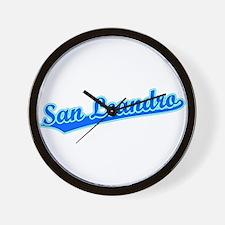 Retro San Leandro (Blue) Wall Clock
