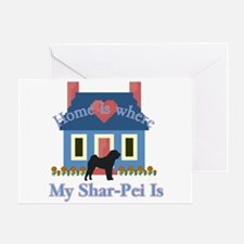 Shar Pei Home Is Greeting Card