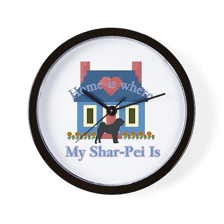 Shar Pei Home Is Wall Clock