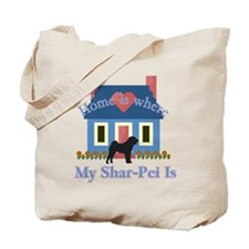 Shar Pei Home Is Tote Bag