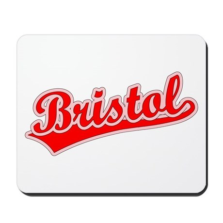 Retro Bristol (Red) Mousepad