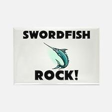 Swordfish Rock! Rectangle Magnet