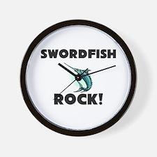 Swordfish Rock! Wall Clock