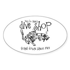 Dive Shop Oval Decal