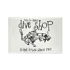 Dive Shop Rectangle Magnet