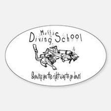 Diving School Oval Decal