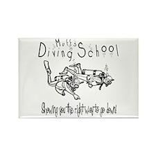 Muffs Diving School Rectangle Magnet