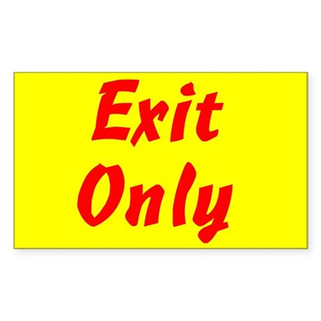 Exit Only Rectangle Sticker