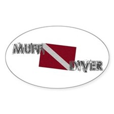 Muff Diver Oval Decal