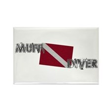 Muff Diver Rectangle Magnet