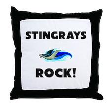Stingrays Rock! Throw Pillow
