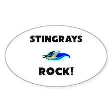 Stingrays Rock! Oval Decal