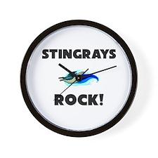Stingrays Rock! Wall Clock