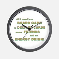 Energy Drink3 Gamer Wall Clock