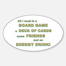 Energy Drink3 Gamer Oval Decal